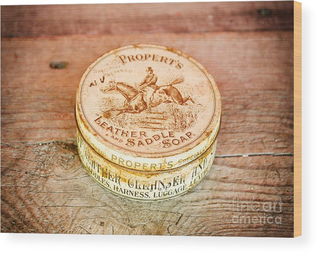 Box Wood Print featuring the photograph Leather Saddle Soap by Les Palenik