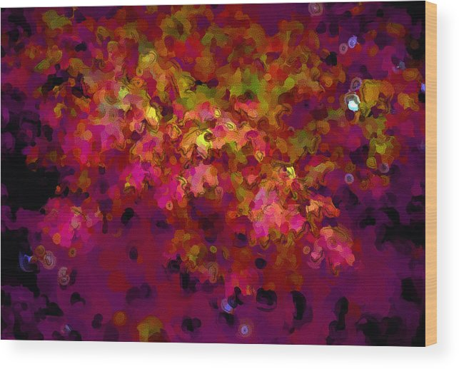 Leaves Wood Print featuring the digital art Leaves In Autumn by George Ferrell