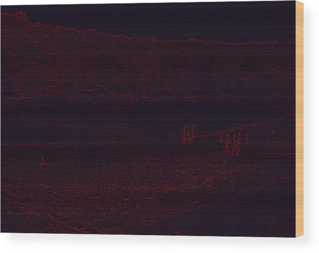 Planet Wood Print featuring the digital art Mars by Bliss Of Art