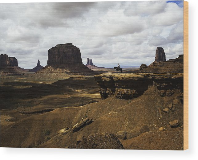 Wild Wild West Wood Print featuring the photograph Monument Valley by Jerome Obille