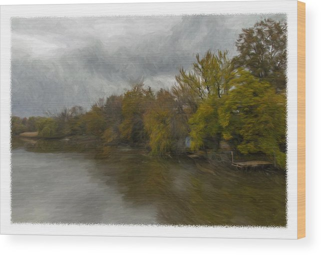 New Milford Wood Print featuring the photograph New Milford By Water Side by Jorge Perez - BlueBeardImagery
