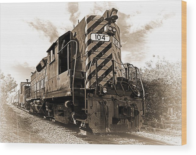 Transportation Wood Print featuring the photograph Powerful In Sepia by Marcia Colelli