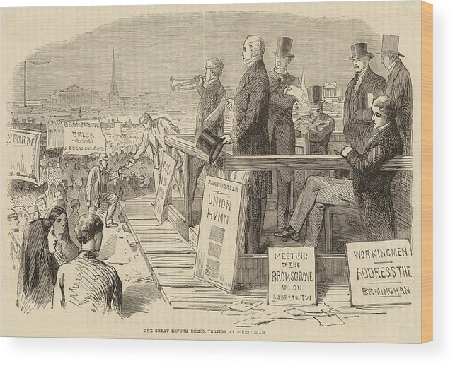 Reform Wood Print featuring the drawing Pro-reform Leaders Address Political by Mary Evans Picture Library