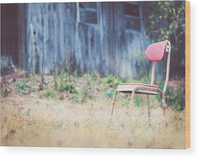 Vintage Wood Print featuring the photograph Rest Here by Kathleen Stevens Moore