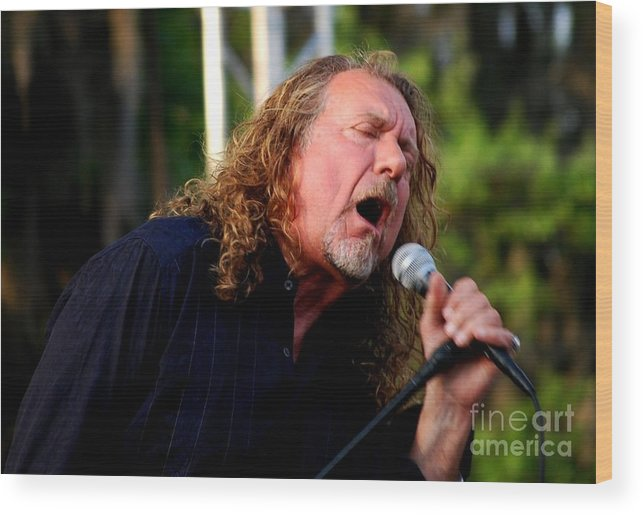 Music Wood Print featuring the photograph Robert Plant 2 by Angela Murray