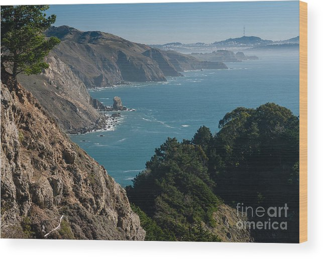 San Francisco Bay Wood Print featuring the photograph San Francisco Bay 2.2736 by Stephen Parker
