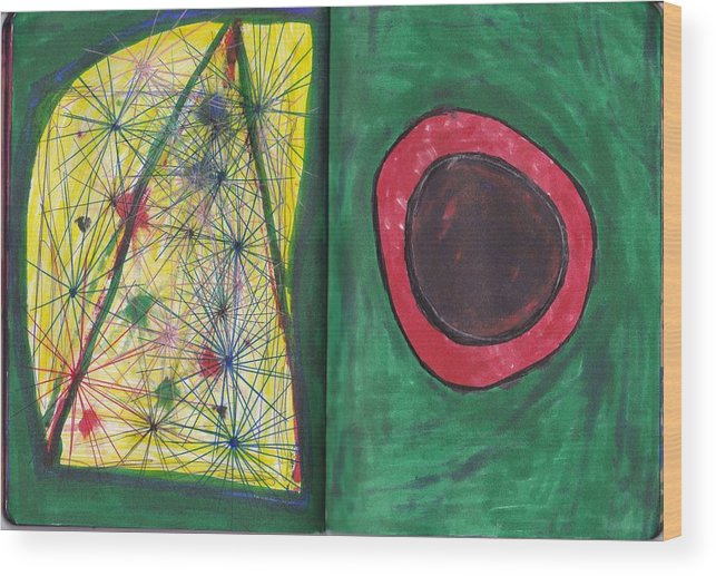 Darrell Black Definism Artwork Wood Print featuring the drawing Sketchbook Image 6 by Darrell Black