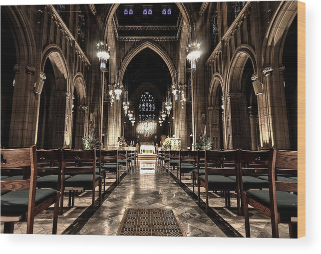 Church Wood Print featuring the photograph Straight Ahead by Niecy Love