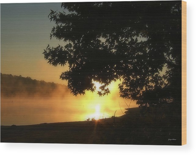 Sunrise Wood Print featuring the photograph Sunrise At Lake Lanier 006 by George Bostian