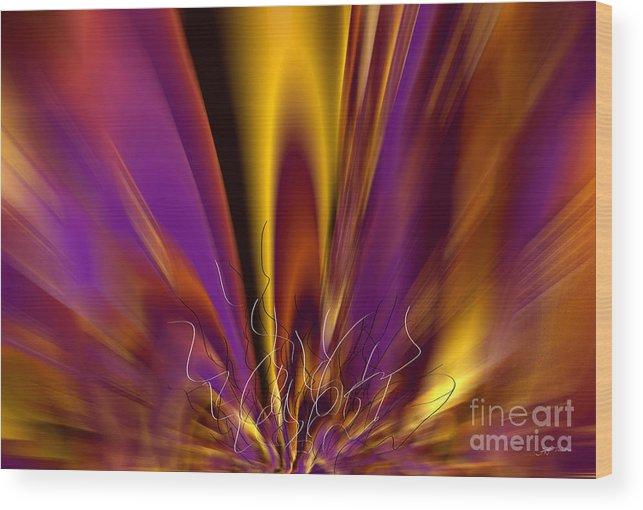 Symphony Of Light 04 Wood Print featuring the digital art Symphony Of Light 04 by Heinz G Mielke