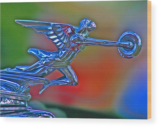 Packard Hood Ornament Wood Print featuring the photograph The Goddess by Jean Noren