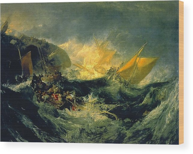 1810 Wood Print featuring the painting The Wreck Of A Transport Ship by JMW Turner
