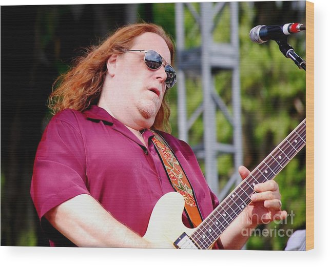 Music Wood Print featuring the photograph Warren Haynes by Angela Murray