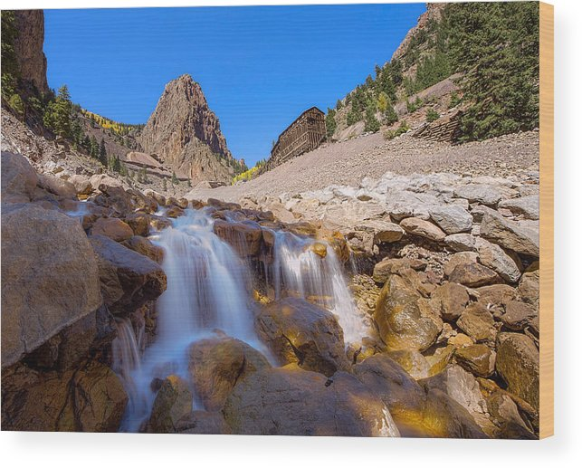 Commodore Wood Print featuring the photograph Waterfall At The Commodore by Nathan Gingles