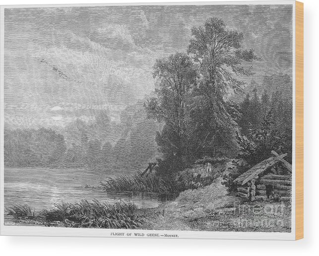 1873 Wood Print featuring the photograph Autumn, 1873 by Granger