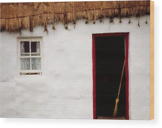 Outdoors Wood Print featuring the photograph Co Galway, Ireland Detail Of A Cottage by The Irish Image Collection