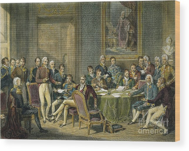 1815 Wood Print featuring the photograph Congress Of Vienna, 1815 by Granger