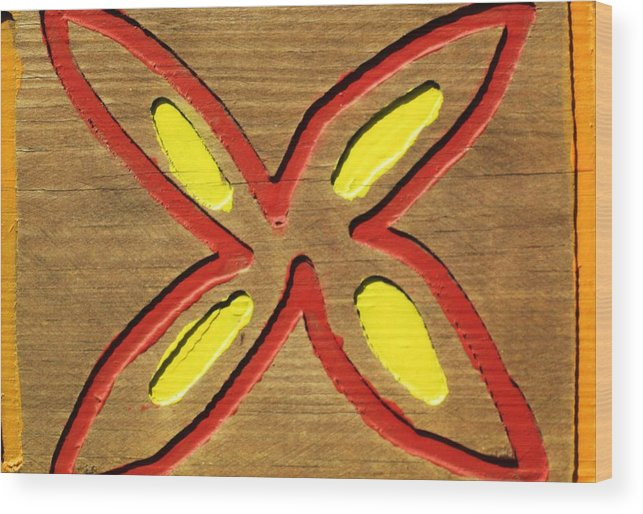 Wood Wood Print featuring the painting Daisy by Charles Jennison