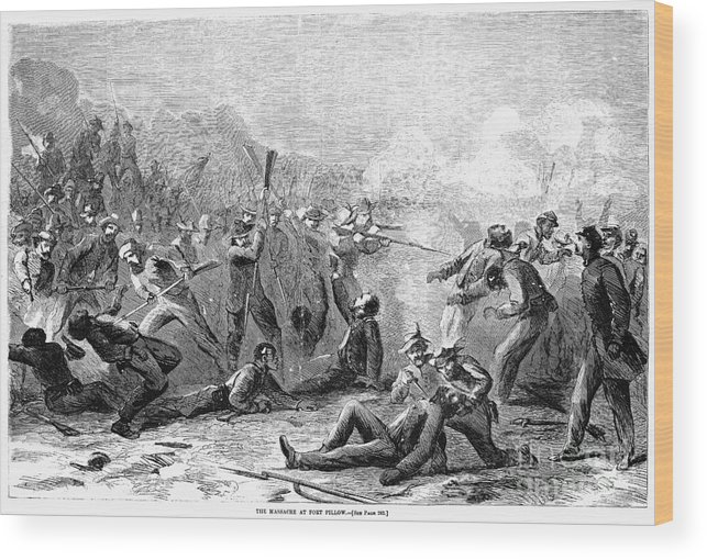 1864 Wood Print featuring the photograph Fort Pillow Massacre, 1864 by Granger