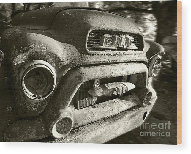Truck Wood Print featuring the photograph Gmc Down For The Count by Kevin Felts