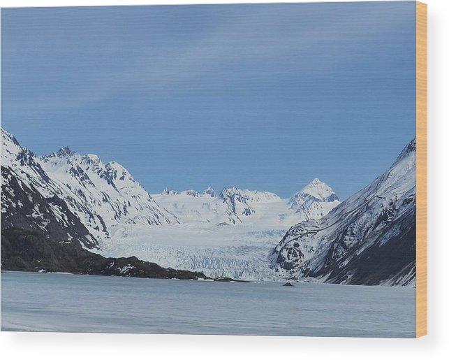 Glacier Wood Print featuring the photograph Grewingk Glacier by Jennifer Zirpoli