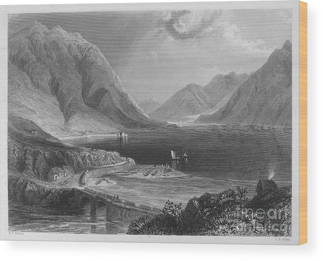 1840 Wood Print featuring the photograph Ireland: Leenane, C1840 by Granger
