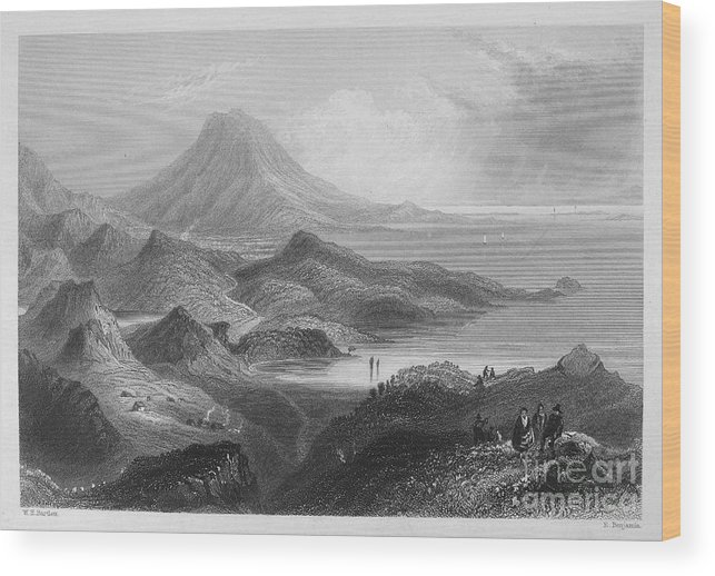 1840 Wood Print featuring the photograph Ireland: Lough Conn, C1840 by Granger