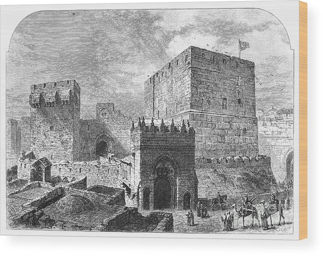 2nd Century B.c Wood Print featuring the photograph Jerusalem: Citadel by Granger
