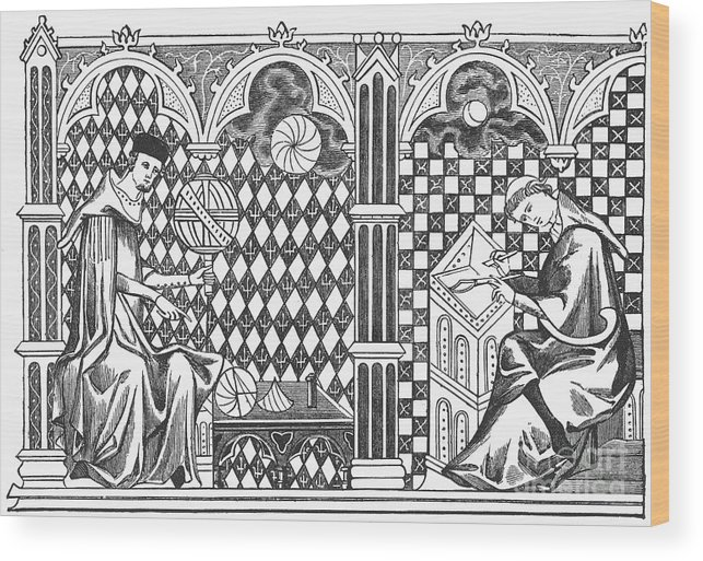 13th Century Wood Print featuring the photograph Medieval Mathematicians by Granger