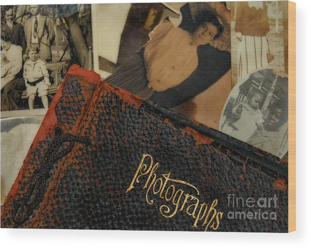 Photoss Wood Print featuring the photograph Photographs From Another Time by Kathleen K Parker