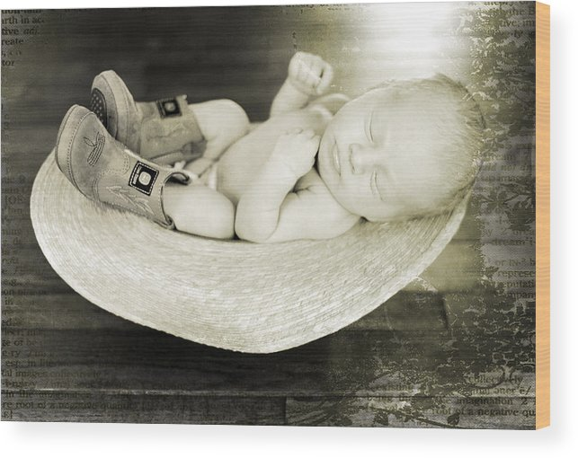 Adopt Wood Print featuring the photograph Relaxing by Malania Hammer