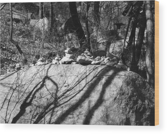 Rocks Wood Print featuring the photograph Rock Pile by DLynne Warren