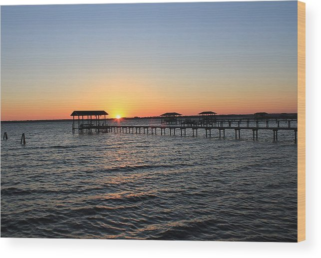 Sunset Wood Print featuring the photograph Sunset Over St Johns by Rod Andress