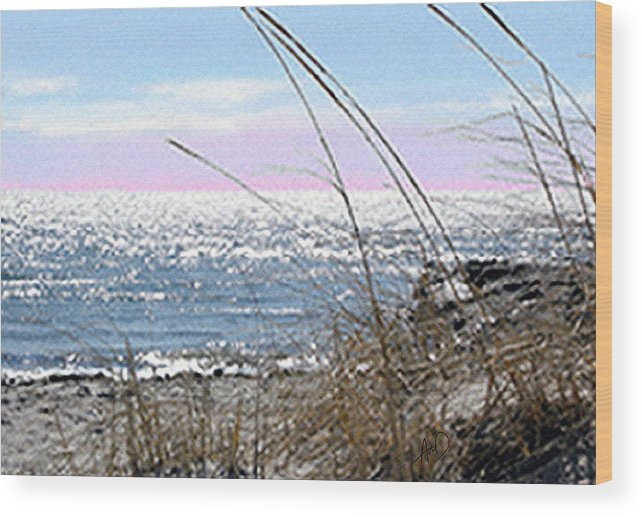 Cape Cod Wood Print featuring the painting The Dennis Breeze by Douglas Auld