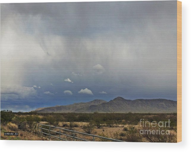 White Tank Mountains Wood Print featuring the photograph White Tank Mountains by Methune Hively