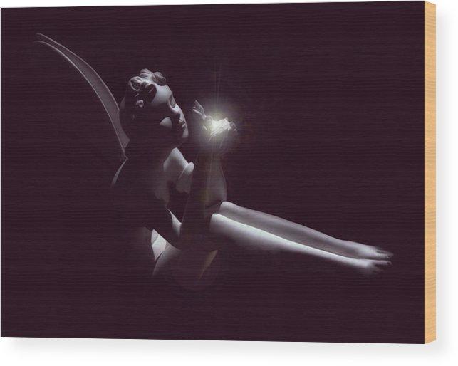 Fairy Wood Print featuring the digital art Fairy Glow by Lisa Westrope