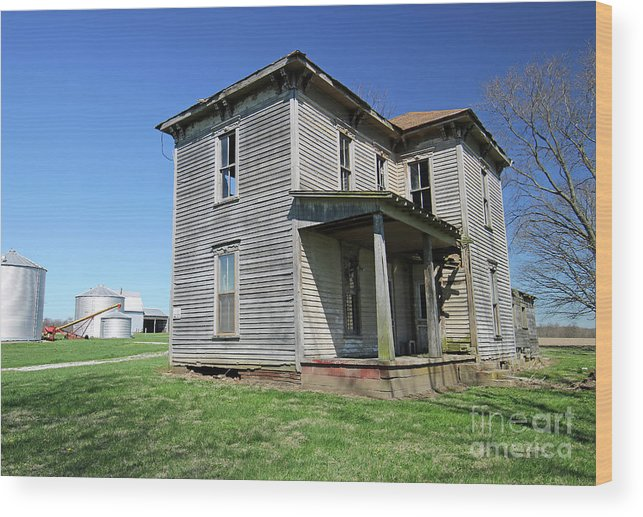 House Wood Print featuring the photograph Farmed Out by Steve Gass