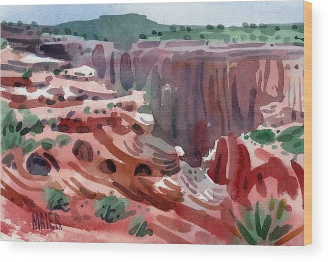 Canyon De Chelly Wood Print featuring the painting Navajo Spirit by Donald Maier