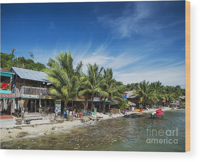 Asia Wood Print featuring the photograph Polluted Dirty Beach With Garbage Rubbish In Koh Rong Island Cam by Jacek Malipan