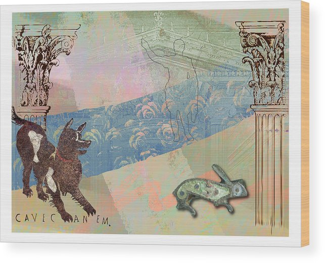 Roman Wood Print featuring the digital art Roman Holiday IIi by Alfred Degens