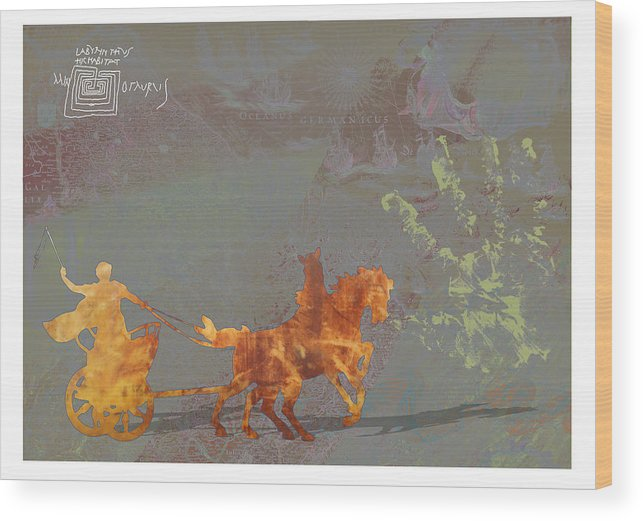 Roamn Wood Print featuring the digital art Roman Holiday Ix by Alfred Degens