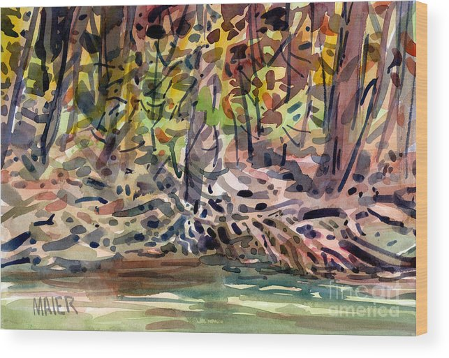 Sope Creek Wood Print featuring the painting Across The Creek by Donald Maier