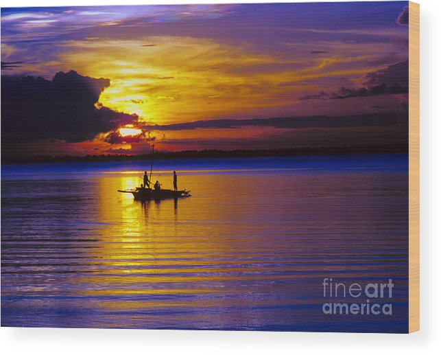 Sunset Wood Print featuring the photograph A Fisherman's Sunset by James BO Insogna