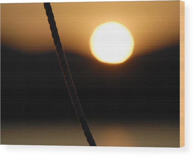 Sunset Wood Print featuring the photograph Abstract Sunset by Mimi Katz