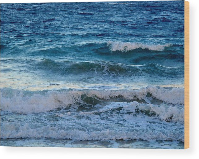 Sea Wood Print featuring the photograph An Unforgiving Sea by Ian MacDonald