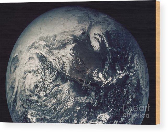 1970s Wood Print featuring the photograph Apollo 16: Earth by Granger