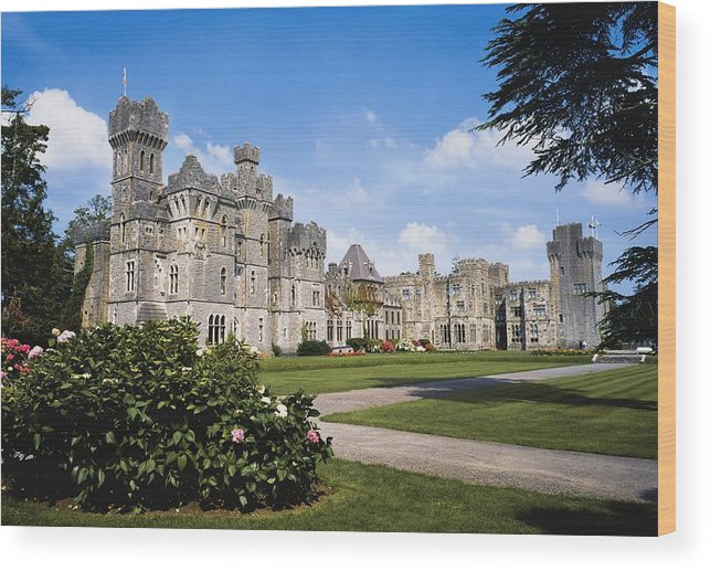 Day Wood Print featuring the photograph Ashford Castle, County Mayo, Ireland by The Irish Image Collection