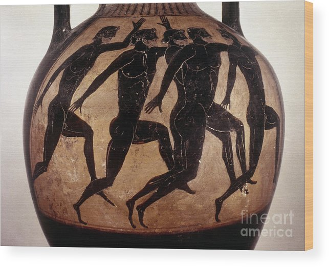 6th Century B.c Wood Print featuring the photograph Attic Black-figured Vase by Granger