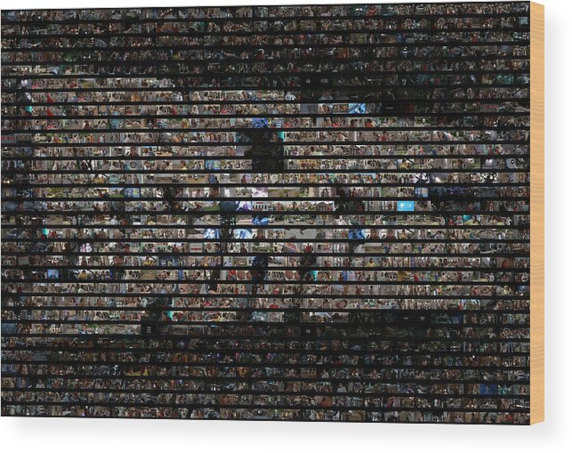 Bttf Wood Print featuring the photograph Back To The Future Mosaic by Paul Van Scott