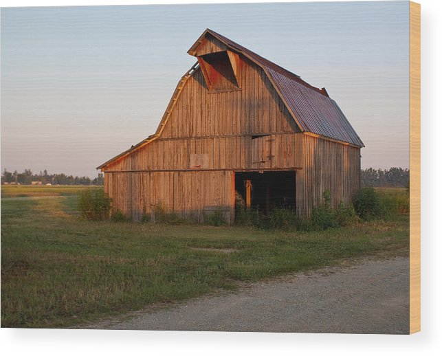 Barn Wood Print featuring the photograph Barn At Early Dawn by Douglas Barnett